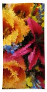 Floral Blast Beach Towel