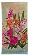 Floral Bouquet Beach Towel