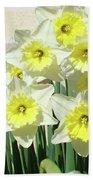 Floral Daffodils Garden Art Prints Floral Bouquet Baslee Troutman Beach Towel