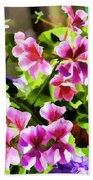Floral Design 5 Light Beach Towel