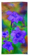 Floral Expression Beach Towel