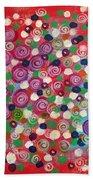 Floral Field  Beach Towel