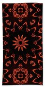 Floral Fire Tapestry Beach Towel