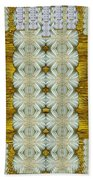 Floral Forest Of Magic And Gold Beach Towel