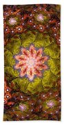 Floral Fractal Wreath  Beach Towel