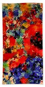 Floral Happiness Beach Towel