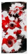 Floral Hotty Totty Beach Towel