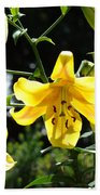 Floral Lilies Art Yellow Lily Flowers Giclee Baslee Troutman Beach Towel