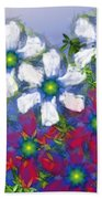 Floral Madness 2 Beach Towel
