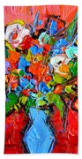 Floral Miniature - Abstract 0115 Beach Towel