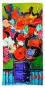 Floral Miniature - Abstract 0315 Beach Towel