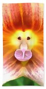 Floral Monkey Pink Yellow And Red Beach Towel