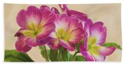 Floral Oil Painting Beach Sheet