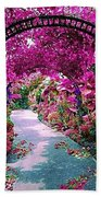Floral Pathway Beach Towel
