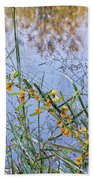 Floral Pond  Beach Towel