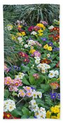 Floral Rainbow Beach Towel