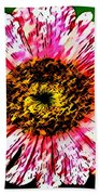 Floral Red And White Painting  Beach Towel