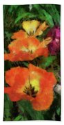 Floral Spring Tulips 2017 Pa 02 Vertical Beach Towel