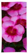 Floral Study In Red And Pink Beach Towel