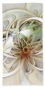 Floral Swirls Beach Towel
