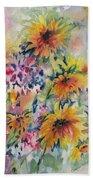 Floral Symphony Beach Towel