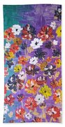 Floral Theme Beach Towel