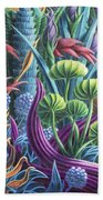Floral Whirl Beach Towel