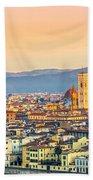 Florence At Sunrise - Tuscany - Italy Beach Towel