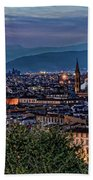 Florence In The Evening Beach Towel