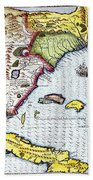 Florida: Map, 1591 Beach Towel
