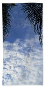 Florida Palm Fronds Blowing In The Breeze Beach Towel