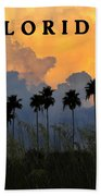 Florida Poster Beach Towel