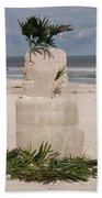 Florida Snow Man Beach Towel