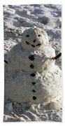 Florida Snowman Beach Towel