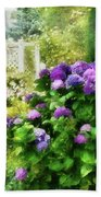 Flower - Hydrangea - Lovely Hydrangea  Beach Towel by Mike Savad