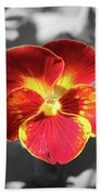 Flower 5 - Reverse Black And White Beach Towel