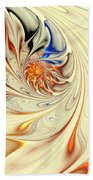 Flower Abstract Light Beach Towel