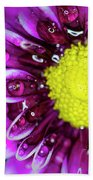 Flower And Droplets Beach Towel