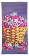 Flower Basket Beach Towel