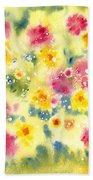 Flower Bed Beach Towel