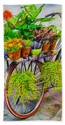 Flower Bike Collection Beach Towel