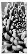 Flower Black And White Beach Towel