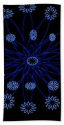 Flower Blue Beach Towel