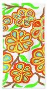 Flower Carnival Beach Sheet