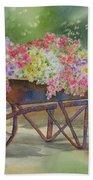 Flower Cart Beach Towel