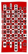 Flower Chess Beach Towel