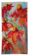 Flower Dance IIi Beach Towel