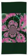 Flower Design Beach Towel by Karol Livote