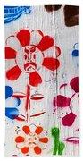 Flower Face Murial Beach Towel