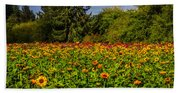 Flower Farm Beach Sheet